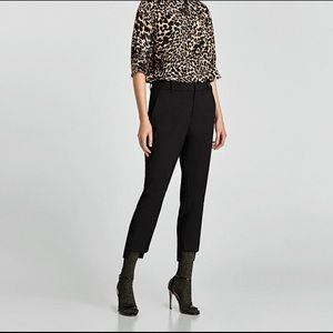 Asymmetrical hem Zara trousers